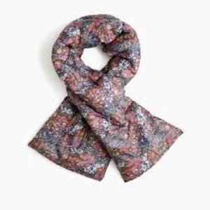 nwt jcrew puffer scarf in liberty floral k6258
